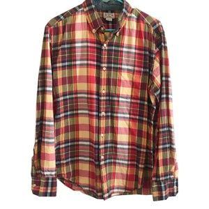 J Crew Quality Woven Shirt Plaid Button Down